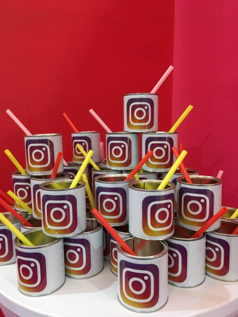 Instagram lounge at Lucca Comics for Full Swing.