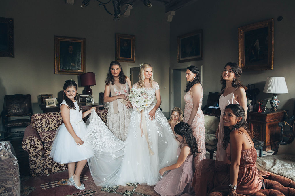 wedding dress in buonconvento siena