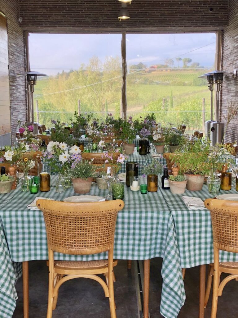 Private dinner in a Winery at Fabbrica Pienza