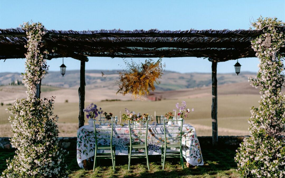 Intimate wedding in Val d'Orcia