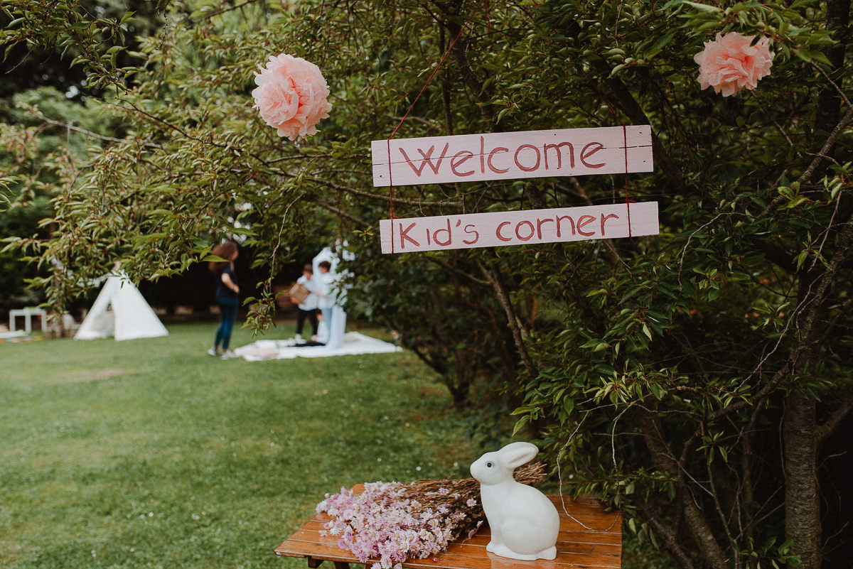 Kids corner at weddings